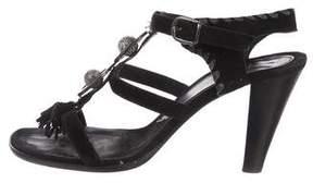 Henry Beguelin Suede Embellished Sandals