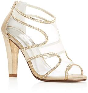 Caparros Desire Rhinestone Embellished High Heel Sandals