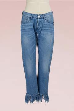3x1 3 X 1 WM3 Straight Crop Fringe Jean