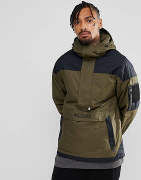 Columbia Challenger Pullover Jacket Hooded Insulated in Green/Black