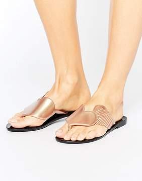 Melissa Pearl Gold Harmonic Cherub Flat Sandals