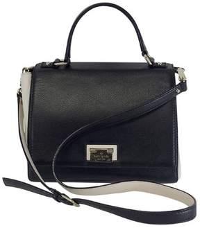 Kate Spade Black & White Leather Satchel - BLACK - STYLE