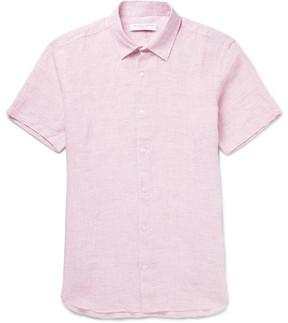Orlebar Brown Meden Slim-Fit Mélange Slub Linen Shirt