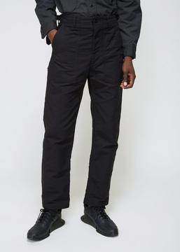 Engineered Garments Black Double Cloth Fatigue Pant