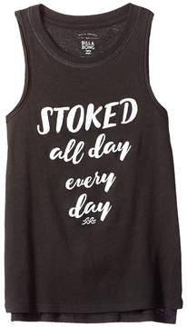 Billabong Kids Stoked All Day Tank Top Girl's Sleeveless