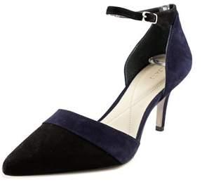 Alfani Jorrdyn Women Pointed Toe Suede Black Heels.