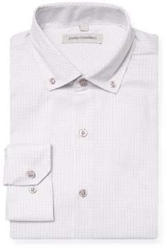 James Campbell Men's Printed Button-Down Barrel Dress Shirt
