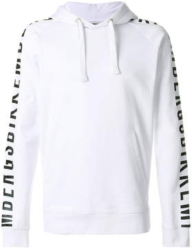 Dirk Bikkembergs printed long sleeved hoodie