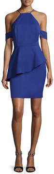 Alexia Admor Women's Cold-Shoulder Peplum Dress