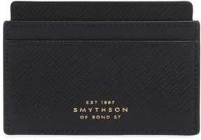 Smythson Panama Flat Leather Card Holder