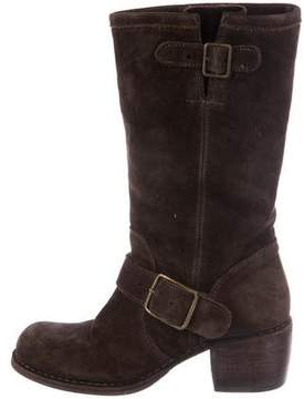 Fiorentini+Baker Suede Square-Toe Boots