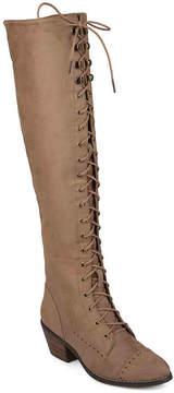 Journee Collection Women's Bazel Wide Calf Over The Knee Combat Boot