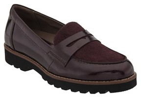 Earthies Women's Braga Leather & Genuine Calf Hair Loafer