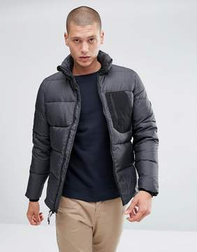 Penfield Hanlon Down Quilted Jacket Ripstop in Black