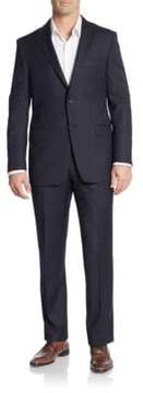 Hickey Freeman Regular-Fit Hairline Striped Wool Suit