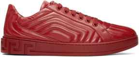 Versace Red Quilted Sneakers
