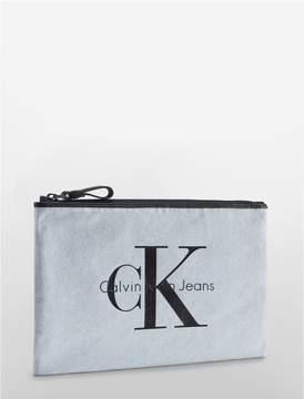 Calvin Klein reissue canvas pouch