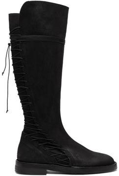 Ann Demeulemeester Black Suede Closer Boots