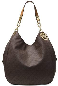 Michael Kors Fulton Large Leather Shoulder Bag - Brown - 30S7GFTL3B-200 - BROWN - STYLE