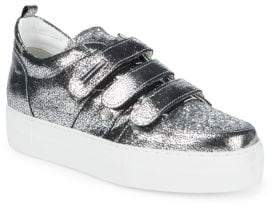 Alessandro Dell'Acqua Metallic Low Top Sneakers