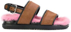 Marni fur soled strappy sandals