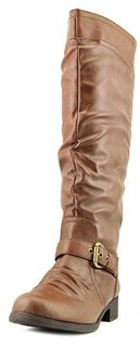 XOXO Marcher Round Toe Synthetic Knee High Boot.
