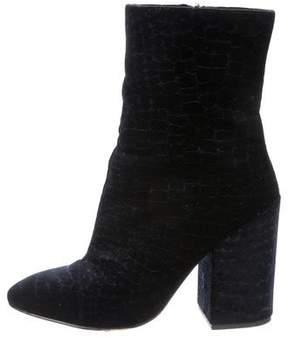 Ash Velvet Ankle Boots