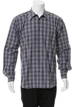 Hermes Plaid Button-Up Shirt