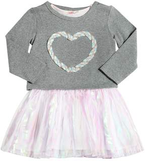Billieblush Cotton Dress Dress W/ Lurex Heart