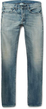 Co Fabric-Brand & Slim-Fit Selvedge Denim Jeans