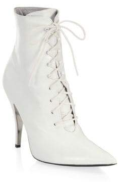 Calvin Klein Rosemarie Leather Lace-Up Ankle Boots