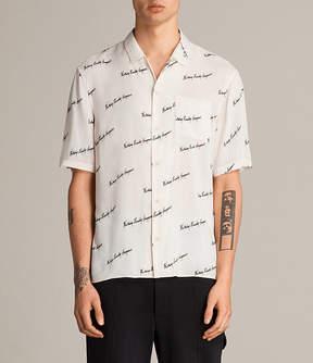 AllSaints Whiteletter Short Sleeve Shirt