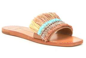 Dolce Vita Cadiz Raffia and Sequin Slip-On Sandals