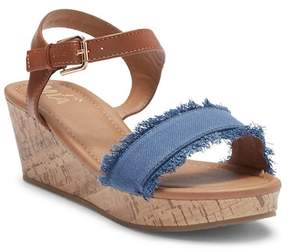 Mia Rita Platform Wedge Sandal (Little Girls & Big Girls)