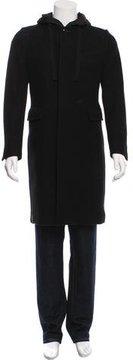 Dries Van Noten Wool Hooded Coat
