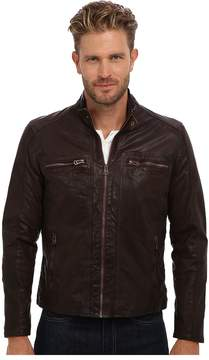Cole Haan Waxed Leather Moto Men's Jacket