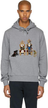 Dolce & Gabbana Grey Royal Designer Family Hoodie