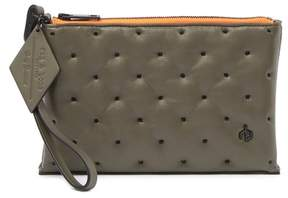 Rag & Bone Dot Dash Quilted Leather Wristlet Pouch