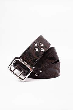 Zadig & Voltaire Buckley Skeleton Spikes Belt