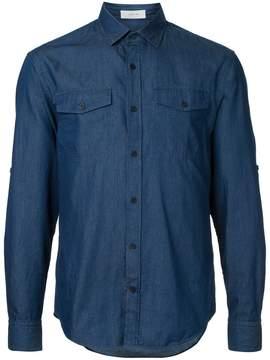 Cerruti denim patch-pocket shirt