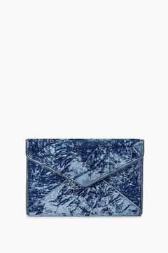 Rebecca Minkoff Velvet Leo Clutch - BLUE - STYLE