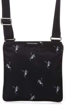 Alexander McQueen Dancing Skeleton Black Messenger Bag