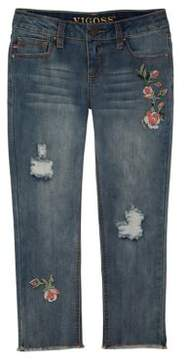 Vigoss Girl's Pretty Buds Capri Jeans