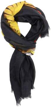 Gucci Scarf 140 X 140 Cm Silk And Modal Scarf With Angry Cat Print