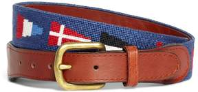 Brooks Brothers Nautical Flag Needlepoint Belt