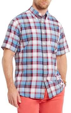 Daniel Cremieux Soho Plaid Madras Short-Sleeve Woven Shirt