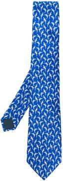 Lanvin alligator print tie