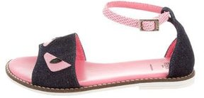 Fendi Girls' Denim Monster Sandals