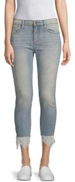 Driftwood Jackie Lace-Trimmed Cropped Jeans