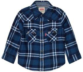 Levi's Blue and White Check Woven Shirt